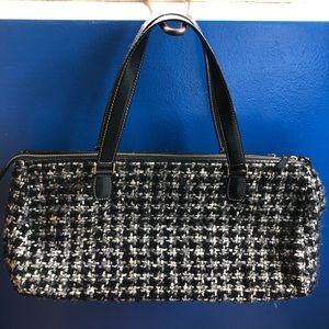 Vintage Kate Spade tweed handbag.